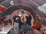 Gary (à gauche)- patron du Juke-joint Bradford Blues Club, Robin, Gé, Spirit et Bethany
